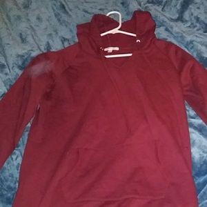Burgundy hooded Sweater